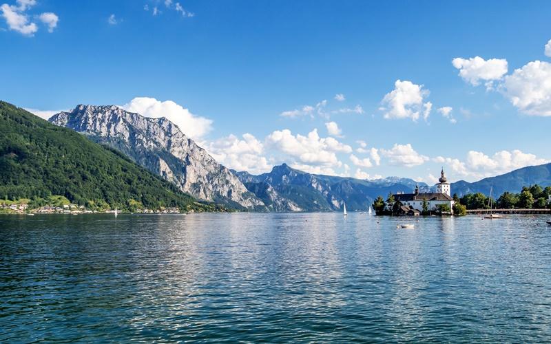 traunsee österreich schöner see