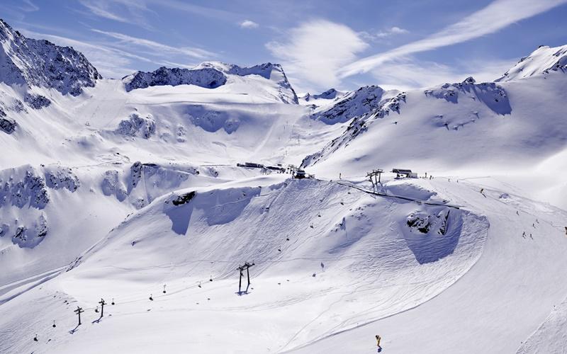 gletscher skigebiete österreich
