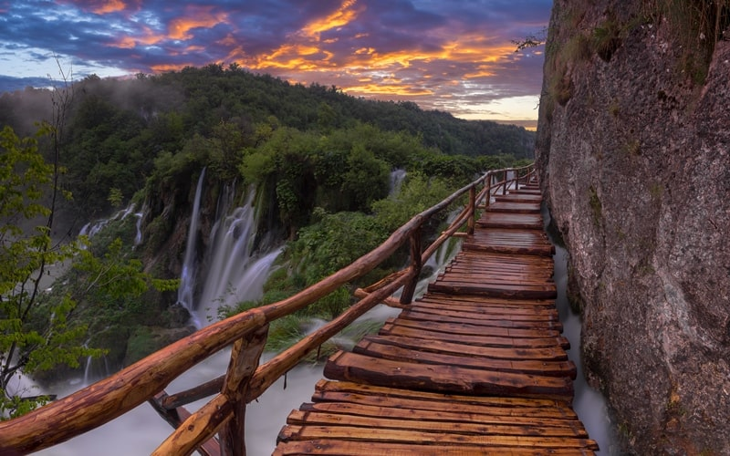 Kroatien Regionen Rastoke Senj Plitvicer Seen