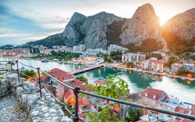 Kroatien Regionen Split-Knin Omis