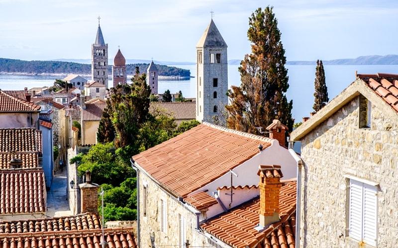 Kroatien Städte Rab Stadt