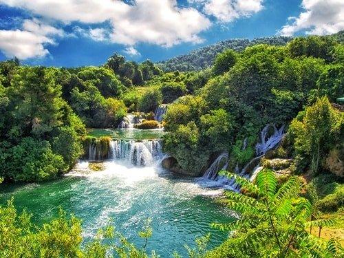 Kroatien Städte am Meer Sibenik Krka Nationalpark