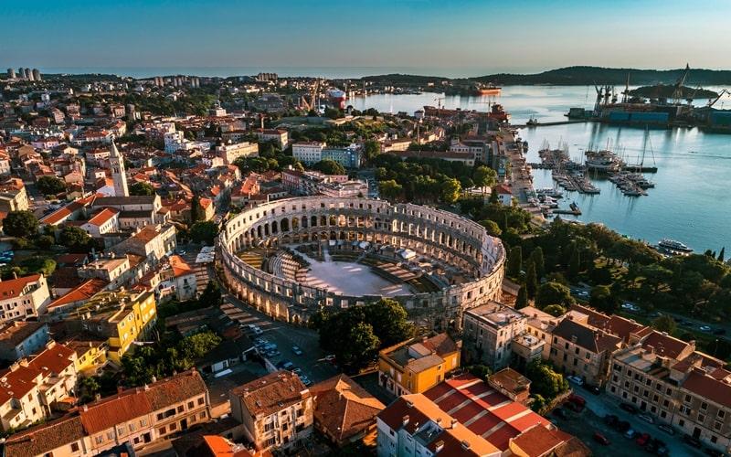 Regionen Kroatien Pula
