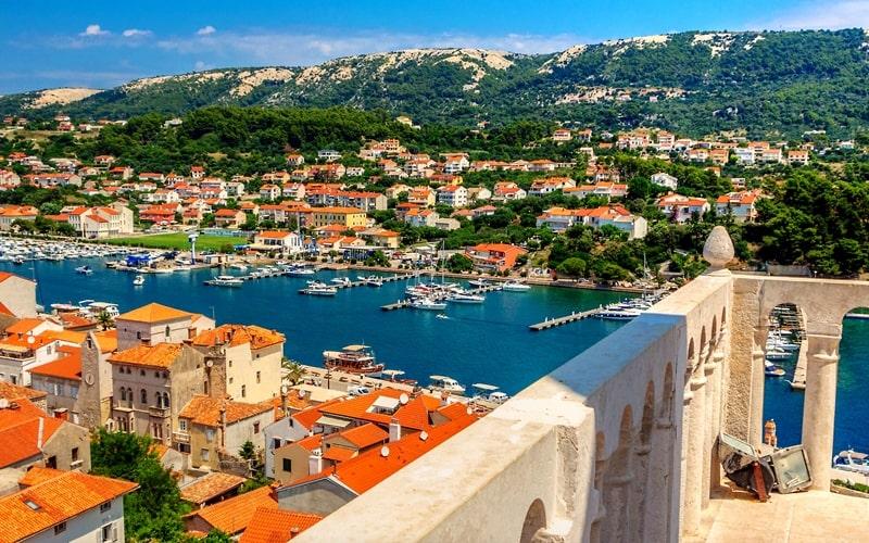 Regionen Kroatien Rab