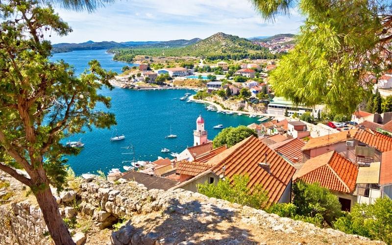 Regionen Kroatien Sibenik-Knin