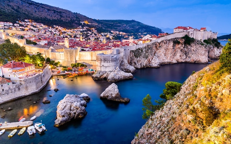 Städte Kroatien Dubrovnik Stadtmauer