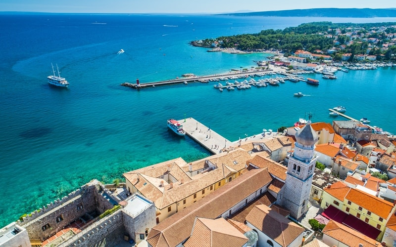Städte Kroatien Krk Altstadt