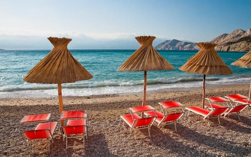Städte Kroatien Krk Baska Strand