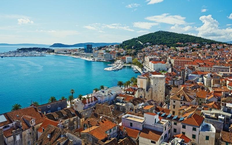 Städte Kroatien am Meer Split
