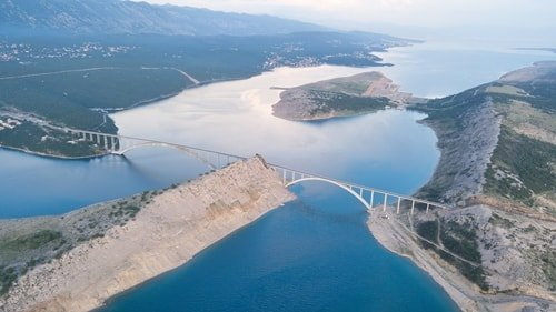 Kroatien Krk Brücke