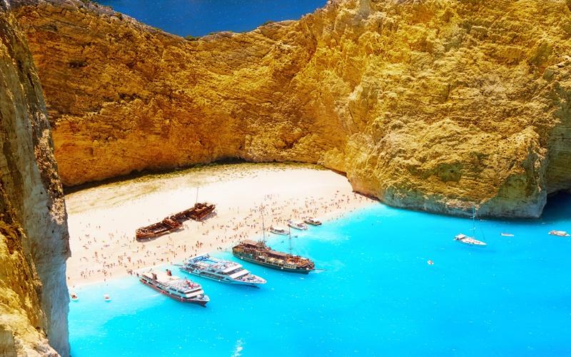navagio beach shipwreck greece zakynthos hotel
