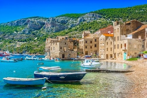 Urlaub am Meer Kroatien Insel Vis