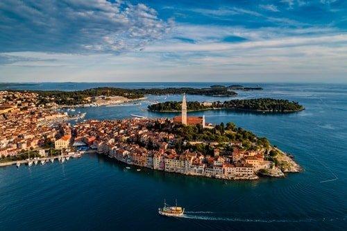Urlaub an der Küste Rovinj Istrien
