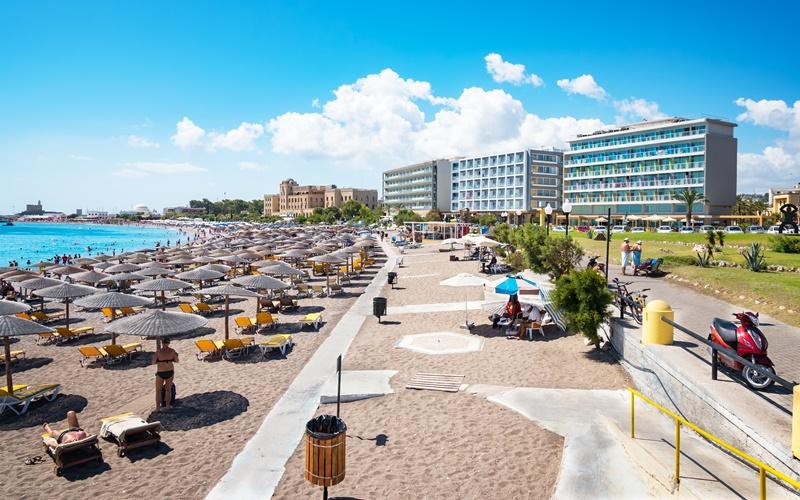 elli beach rhodos strand stadt