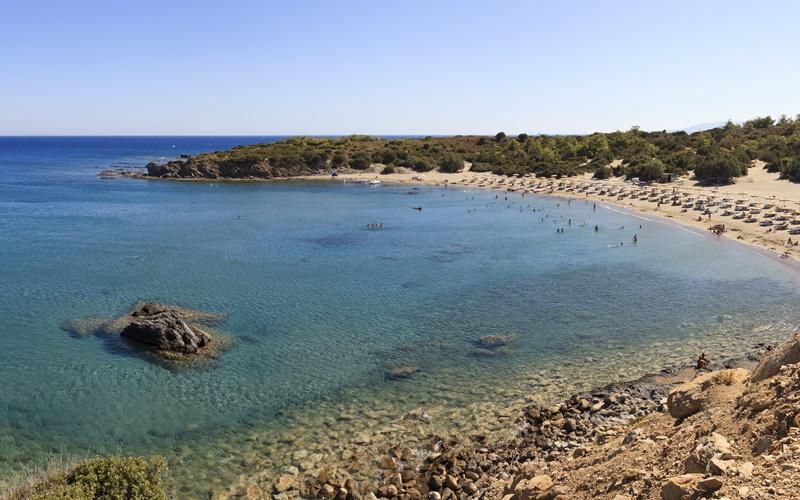 glystra beach rhodos strand sand