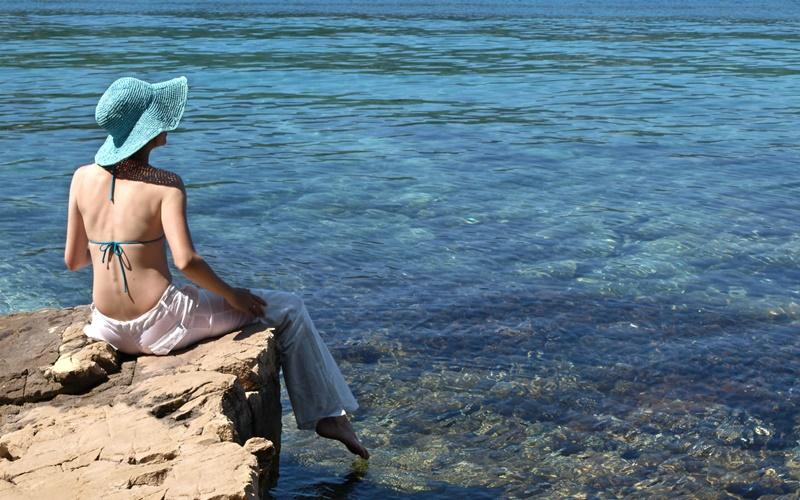 strand rhodos schwimmen