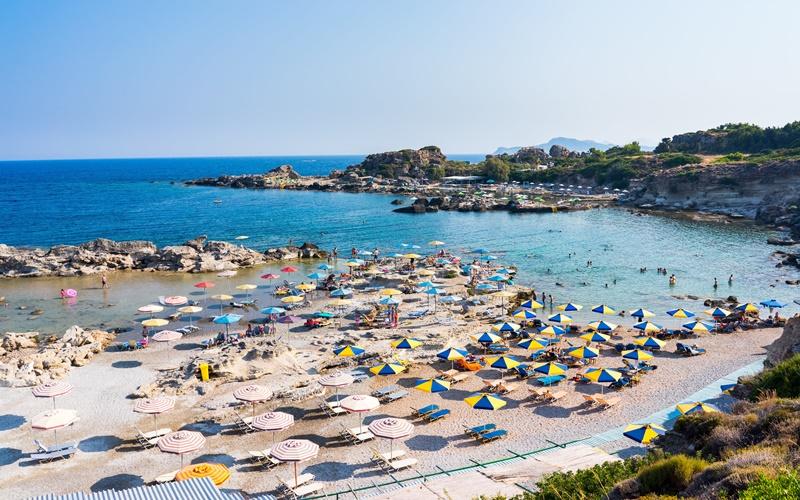 tassos beach rhodos schönste Strände