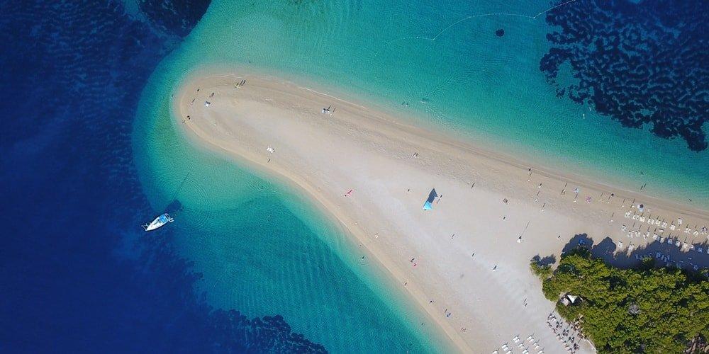 Kroatien Urlaub Reiseziel am Sandstrand