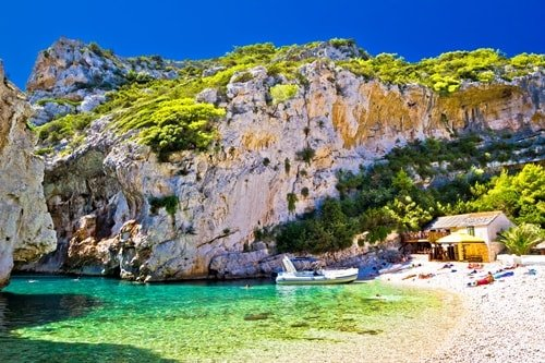 Stinva Beach Insel Vis Kroatien