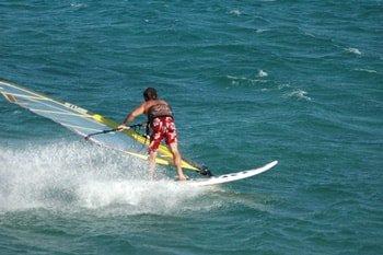 Kalafatis Beach Windsurfen