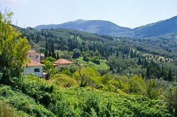 Korfu Berglandschaft