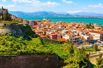 Nafplio auf der Halbinsel Peloponnes