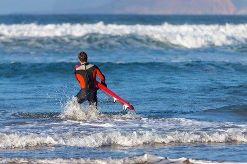 Surfen Strand Lanzarote