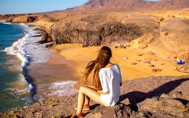 Bucht Papagayo Beach Lanzarote