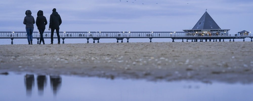 Winter Usedom Seebrücke Kaiserbäder