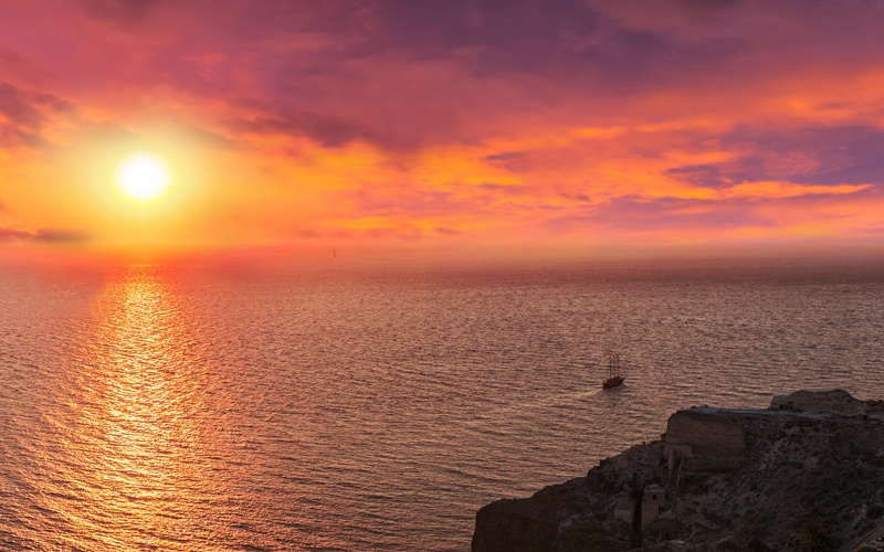 sonnenuntergang Santorini
