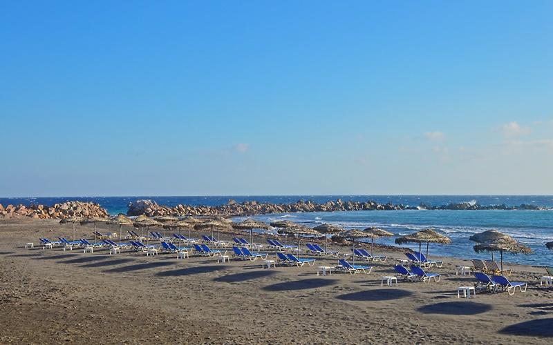 strand santorini schwarzer Sand