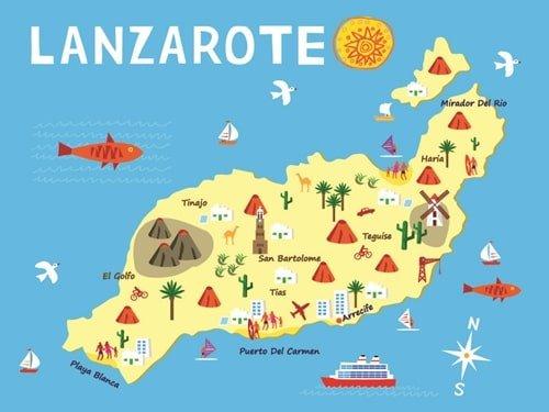 Lanzarote Reiseziele Karte