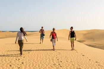Sanddünen wandern