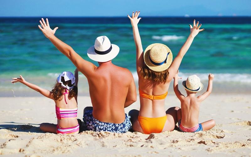 Strand nackt familie Nudisten