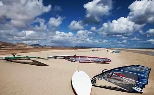 Windsurfen am Playa de Sotavento