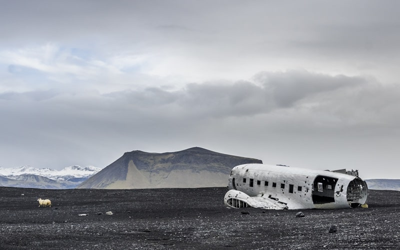 Flugzeugwrack Island