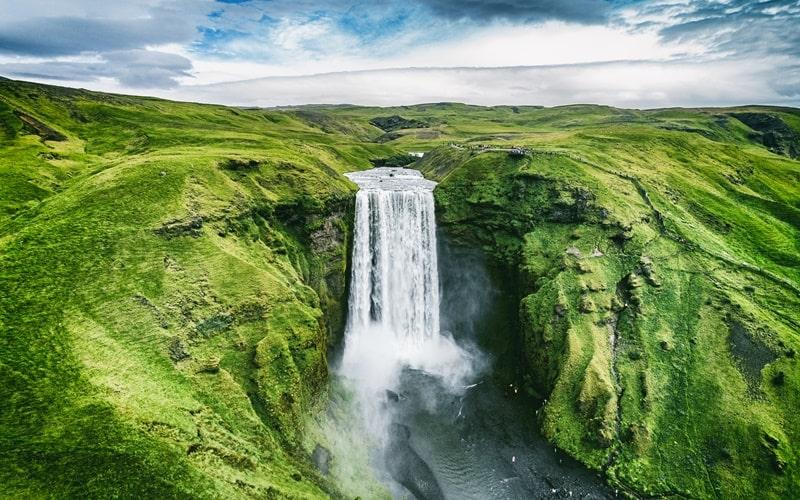 Wasserfälle Island